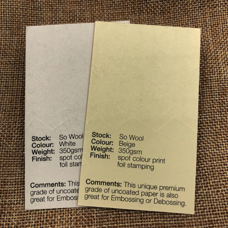 So Wool - 350gsm_Specialties - Spot Colour Printing_Business ...
