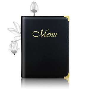 Classic Leather A4 Menu Cover_Restaurant & Hotel
